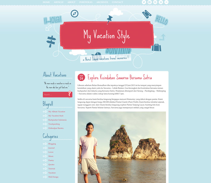 Backpacker WordPress Theme